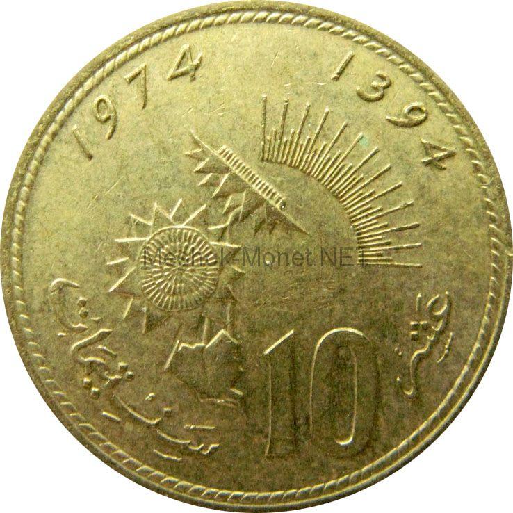Марокко 10 сантим 1974 г.