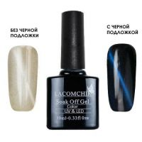 Lacomchir TOP кошачий глаз Cats Eye BLUE голубой, 10 мл