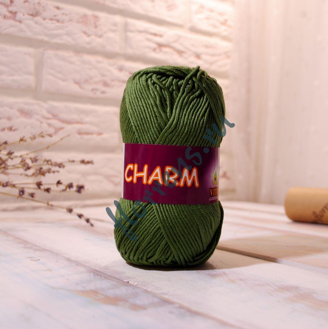 Пряжа Charm / 4190 оливковая зелень