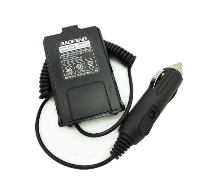Адаптер питания от прикуривателя для Baofeng UV-5R, DM-5R Plus