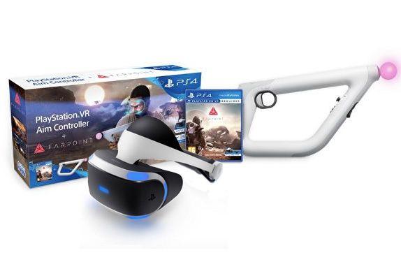 Sony Playstation VR + Контроллер прицеливания PS VR + Игра Farpoint (PS4)