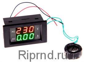 Вольт-амперметр АС до 500V 100A