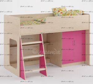 Кровать-чердак Легенда-34 с лестницей