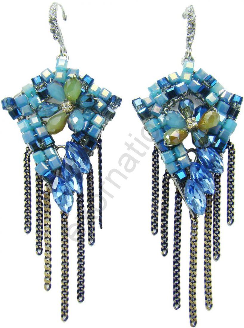 Серьги Taya LX T-B-8429-EARR-BLUE