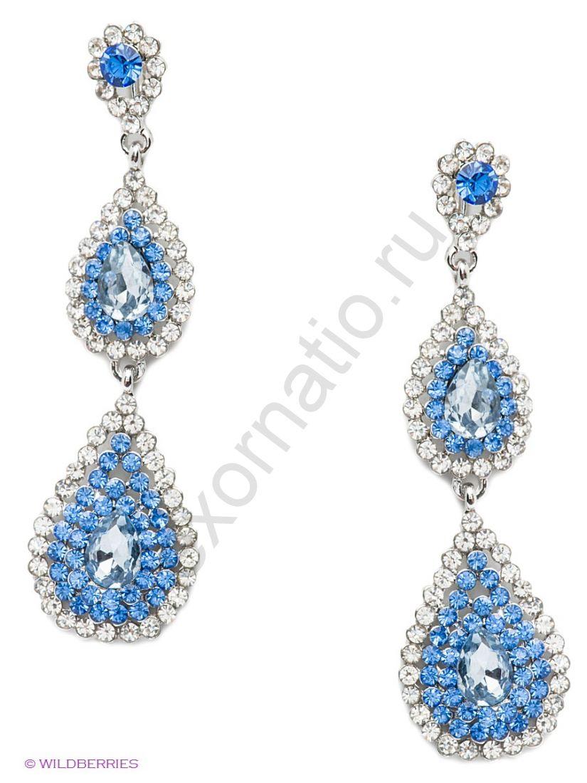 Серьги Taya LX T-B-9510-EARR-SL.BLUE