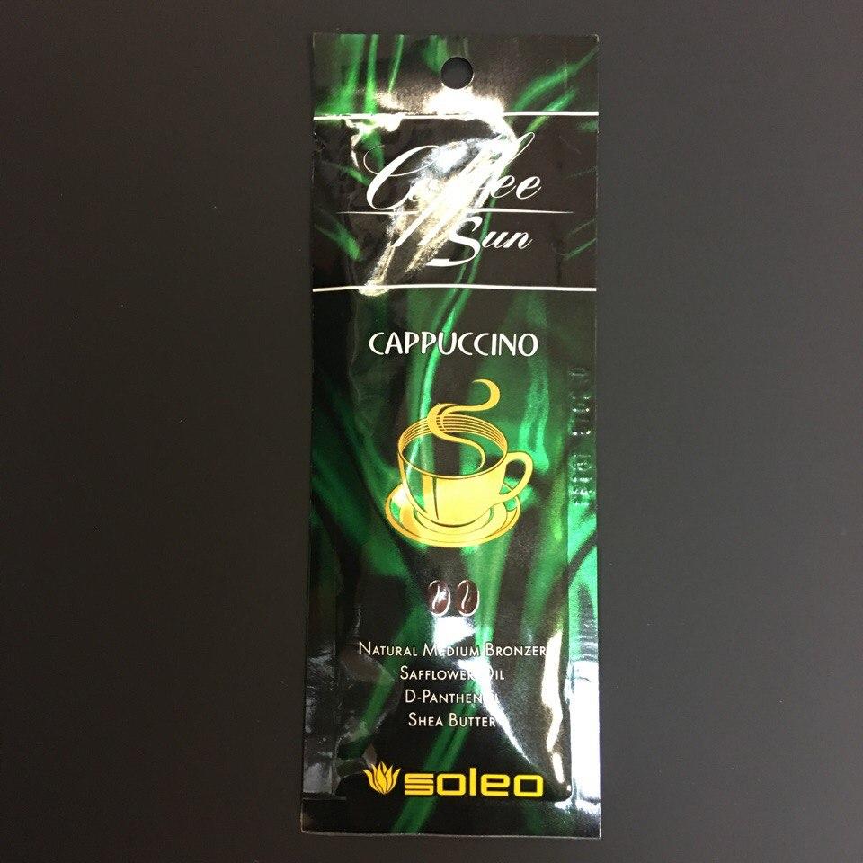"""крем для солярия """"SOLEO"""" Cappuccino Интенсивный натуральный бронзатор 15ml"""