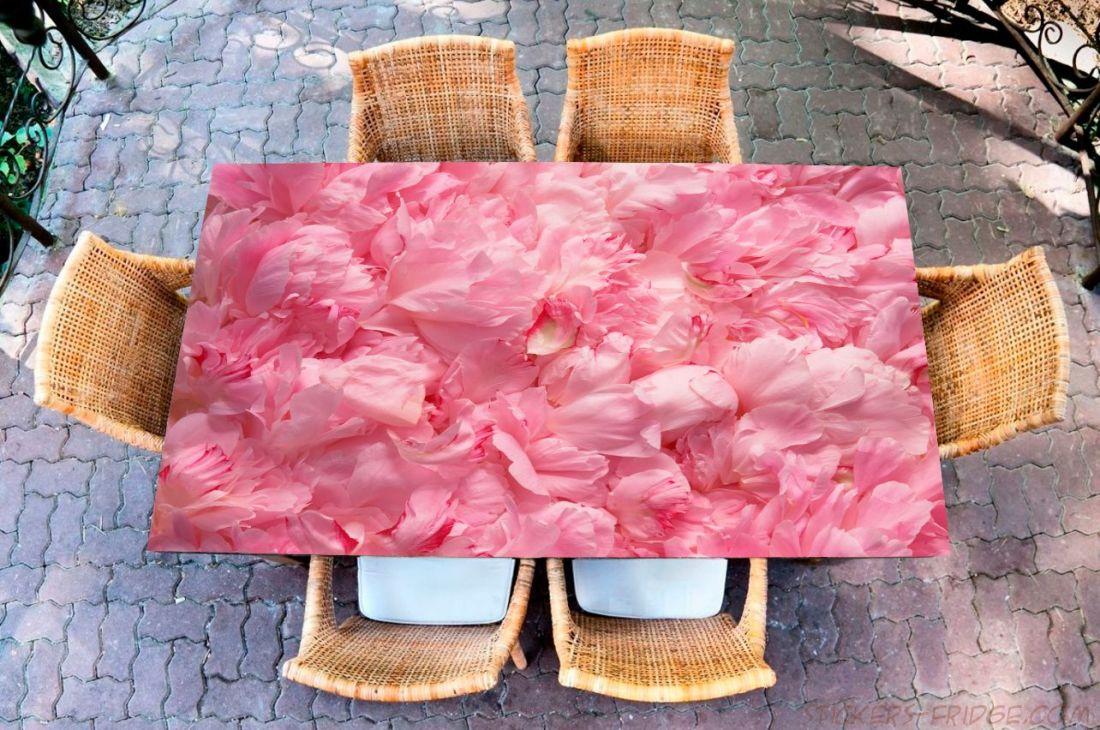 Наклейка на стол - Лепестки
