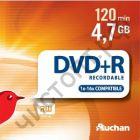 AUCHAN DVD+R 4.7Gb  16x CB-10 банка по 10шт. СУПЕРЦЕНА !!!