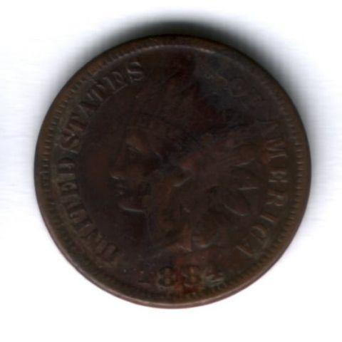 1 цент 1884 г. США