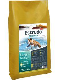 Estrudo Atlantica (Белая рыба) для взрослых собак средних пород склонных к аллергии, 13 кг
