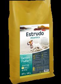 Estrudo Atlantica (Белая рыба) для взрослых собак мелких пород склонных к аллергии, 10 кг