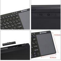 Беспроводная ультратонкая Bluetooth клавиатура с тачпадом Zoweetek ZW-51012BT-1