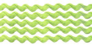 `Тесьма вьюнчик, ширина 5 мм, цвет: светло-зеленый