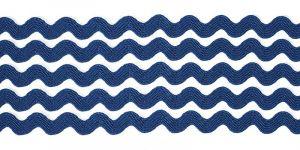 `Тесьма вьюнчик, ширина 5 мм, цвет: темно-синий