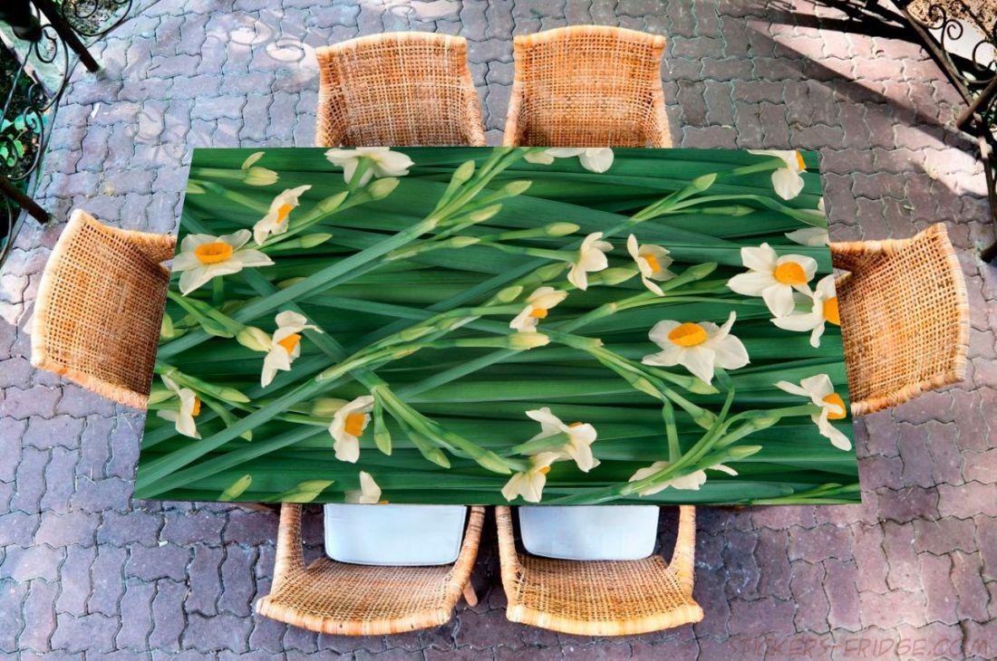 Наклейка на стол - Нарциссы