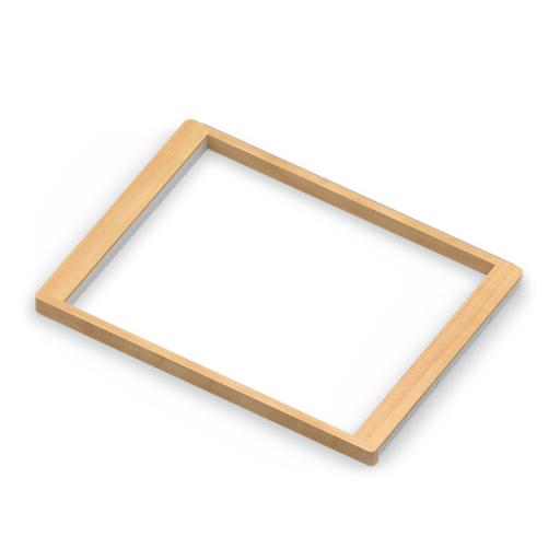 Рамка для корзин выдвижная, светлый декор, серия 460, L=607, белый