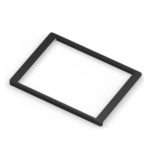 Рамка для корзин выдвижная, темный декор, серия 460, L=607, белый