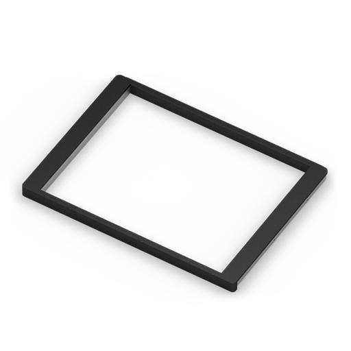 Рамка для корзин выдвижная, темный декор, серия 460, L=607, металлик