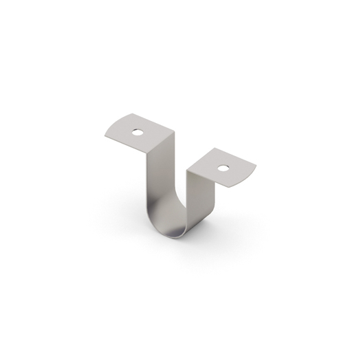 Скоба соединительная для полок ЛДСП  (6 шт.+12 шурупов в комплекте), металлик