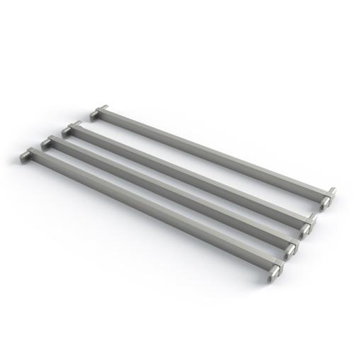 Поперечина стеллажа, T+L обр.  (2 шт + 2 шт в комплекте), L=550, металлик