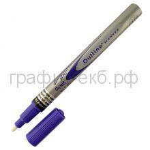 Маркер декор.Pentel Outline фиолетовый/серебро MSP60-ZV