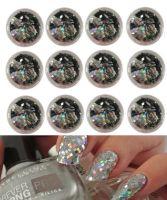 Конфетти-ромбики серебро, набор 12 шт