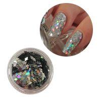 Конфетти-ромбики серебро, 1 шт