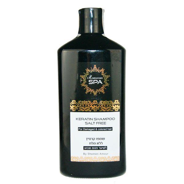 Кератиновый шампунь  для поврежденных волос Shemen Amour (Шемен Амур) 400 мл