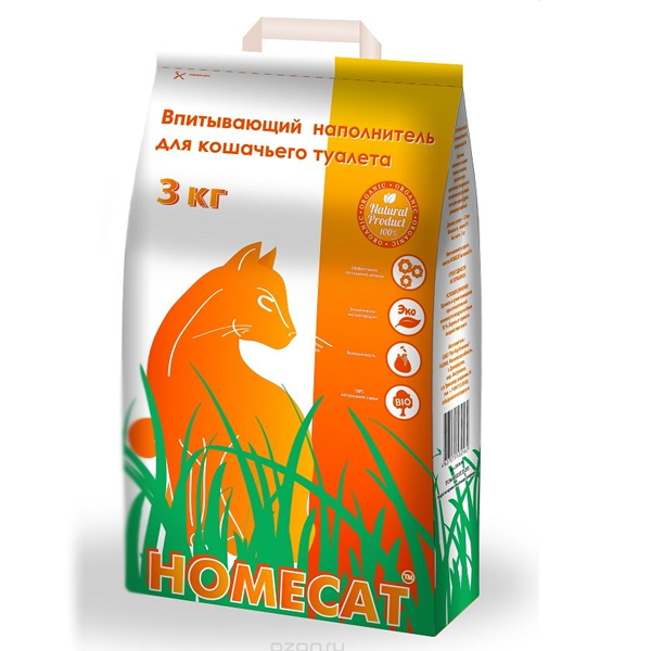 Наполнитель для кошек Homecat впитывающий наполнитель 5л