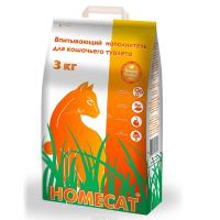 Наполнитель для кошек Home cat впитывающий наполнитель 5л