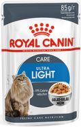 Royal Canin ULTRA LIGHT Влажный корм для кошек, склонных к полноте (в желе) (85 г)