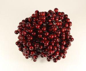 Ягоды 10 мм (длина 16см), цвет - бордовый. 1 уп = 400 ягодок