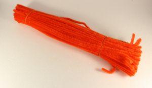 Синельная проволока 6мм х 300 мм, цвет оранжевый кислотный (1 уп = 95-105 шт)