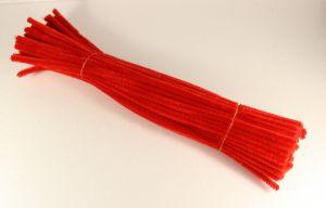 Синельная проволока 6мм х 300 мм, цвет красный  (1 уп = 95-105 шт)