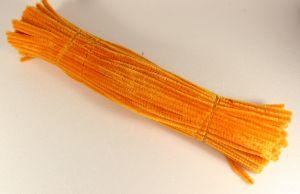 `Синельная проволока 6мм х 300 мм, цвет оранжевый (1 уп = 10 шт)