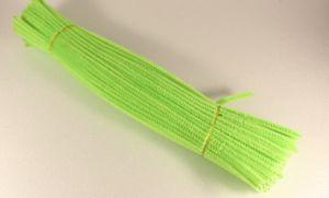 `Синельная проволока 6мм х 300 мм, цвет зеленый кислотный (1 уп = 10 шт)