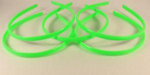 Ободок, пластик, ширина 8мм цвет: зеленый (1уп = 12шт)