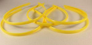 Ободок, пластик, ширина 8мм цвет: желтый (1уп = 12шт)