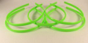 Ободок, пластик, ширина 8мм цвет: зеленое яблоко (1уп = 12шт)