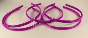 Ободок, пластик, ширина 8мм цвет: фиолетовый (1уп = 12шт)