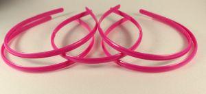 Ободок, пластик, ширина 8мм цвет: ярко-розовый (1уп = 12шт)