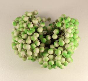 `Ягоды 10 мм (длина 16см), цвет бело-зеленый, 1 веточка=2 ягодки