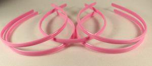 `Ободок, пластик, ширина 8мм цвет: светло-розовый