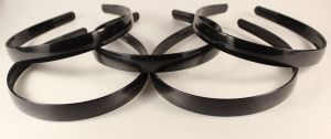 `Ободок, пластик, ширина 15мм цвет: черный