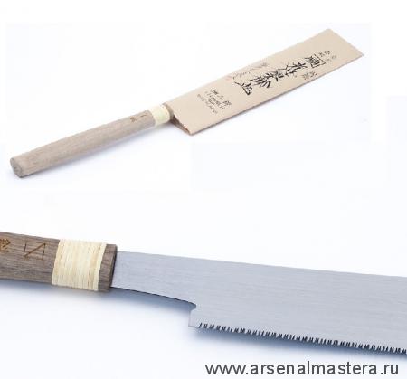 Пила столярная безобушковая Juntaro Mitsukawa 170мм диагональная (Diagonal) Шаг зуба 1,2 мм Miki Tool М00012365
