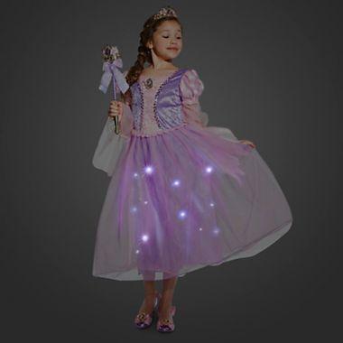 Платье принцессы Рапунцель светящееся Дисней