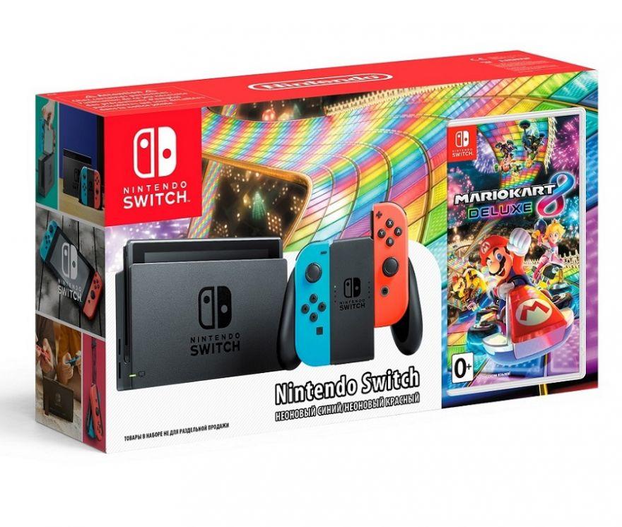Игровая приставка Nintendo Switch + Mario Kart 8