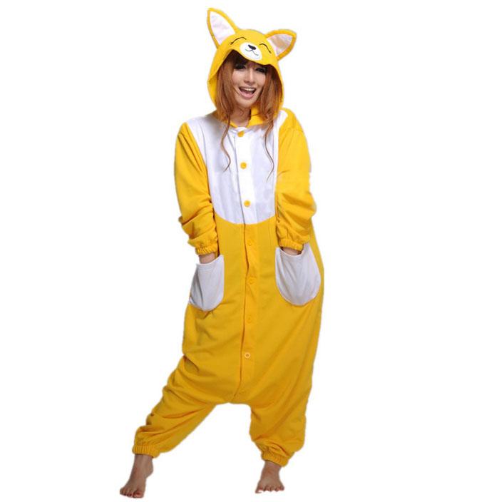 Пижама Кигуруми Лиса Желтая_01