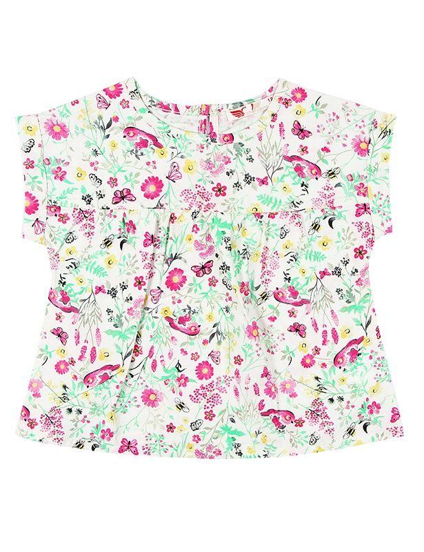 Блуза для девочки Цветы