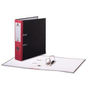 Папка-регистратор 80мм BRAUBERG мрамор красный корешок/24 220988